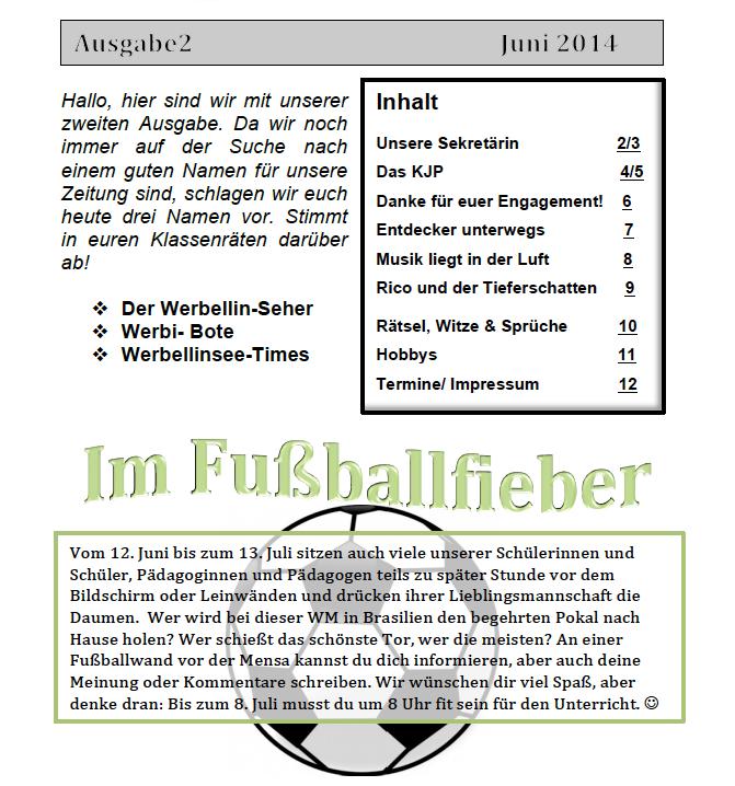 Schülerzeitung Werbellinsee Grundschule